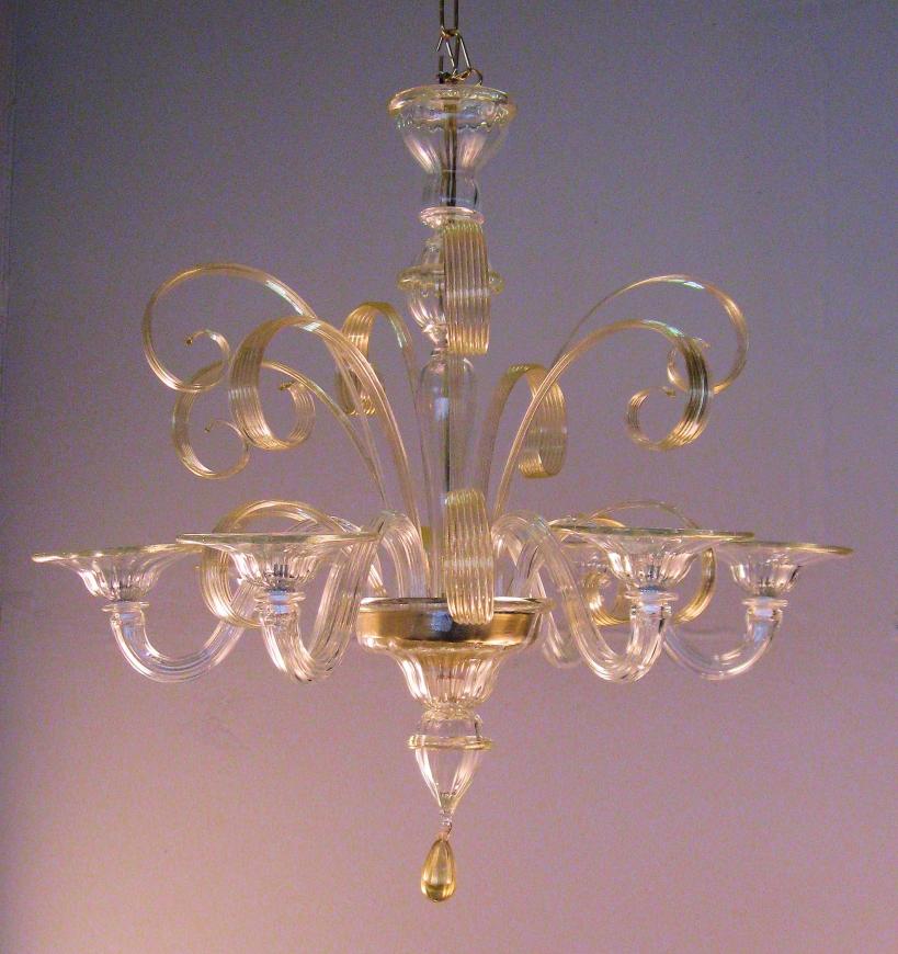Lampadari in Stile::Lampadari in stile classico in vetro ...