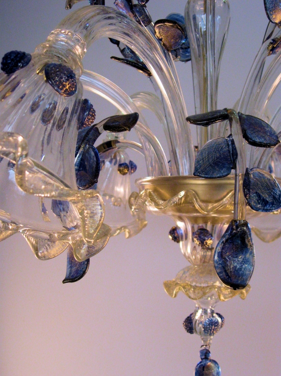 Lampadari barocchi in vetro soffiato di Murano a sospensione