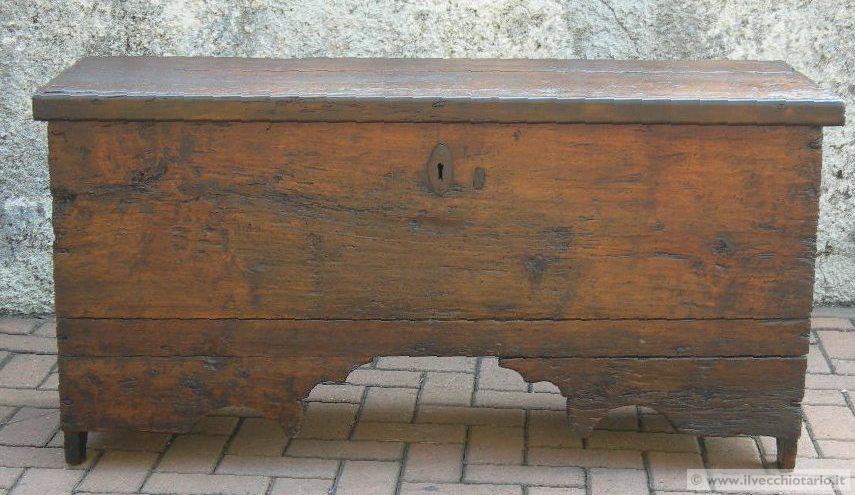 Cassapanca 700 legno antica cassapanca in legno epoca 700 for Cassapanca del 700