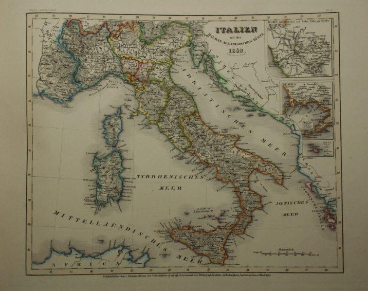 Italia Cartina Antica.Antica Mappa Cartina Italia