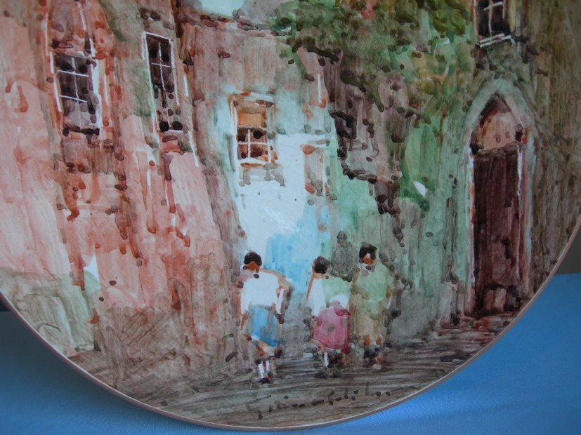 Piatto ceramica albisola