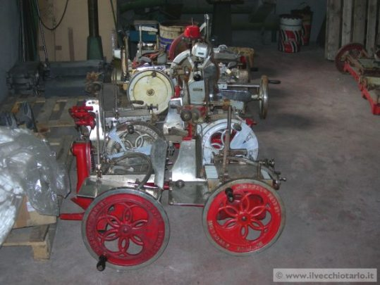 Berkel slicers before restoration