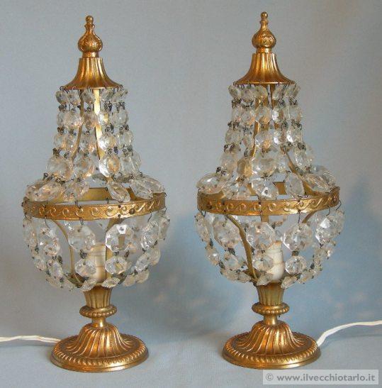 Lampade abat jours da comodino maria teresa cristallo - Ebay lampade da tavolo antiche ...