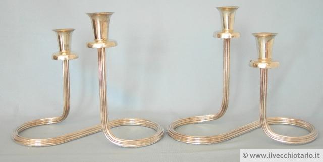 candelieri moderni candelabri argento 800