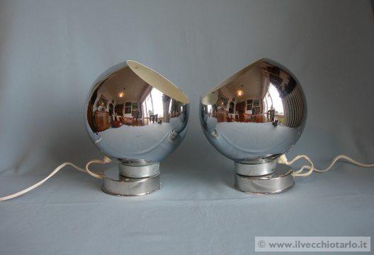 Applique lampade anni 70 cromate reggiani