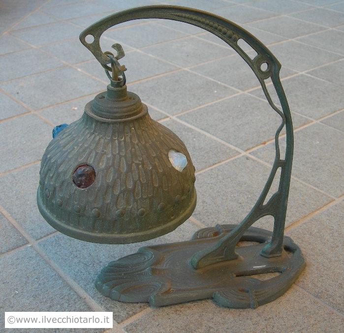 Lampada da tavolo e/o da parete epoca Liberty
