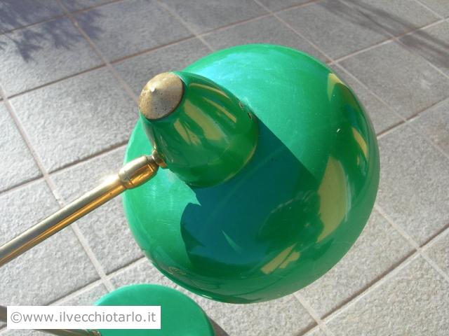 Lampada ministeriale da tavolo scrivania vintage colore verde smeraldo ...