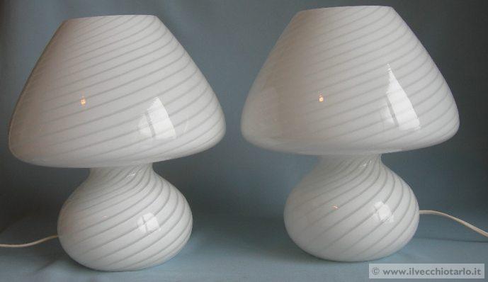 Lampade In Vetro Anni 70 : Lampade murano vetro bianche classiche anni