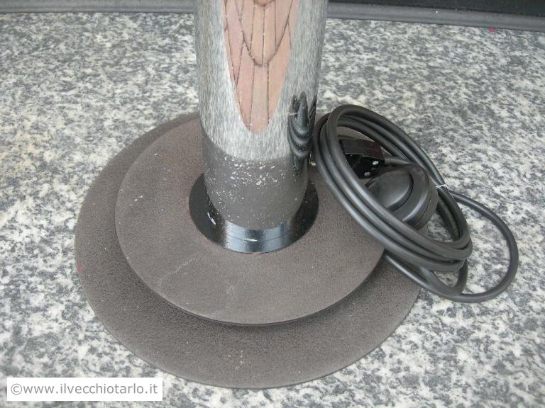 Lampade In Vetro Anni 70 : Lampada da terra metallo cromato vetro murano produzione mazzega