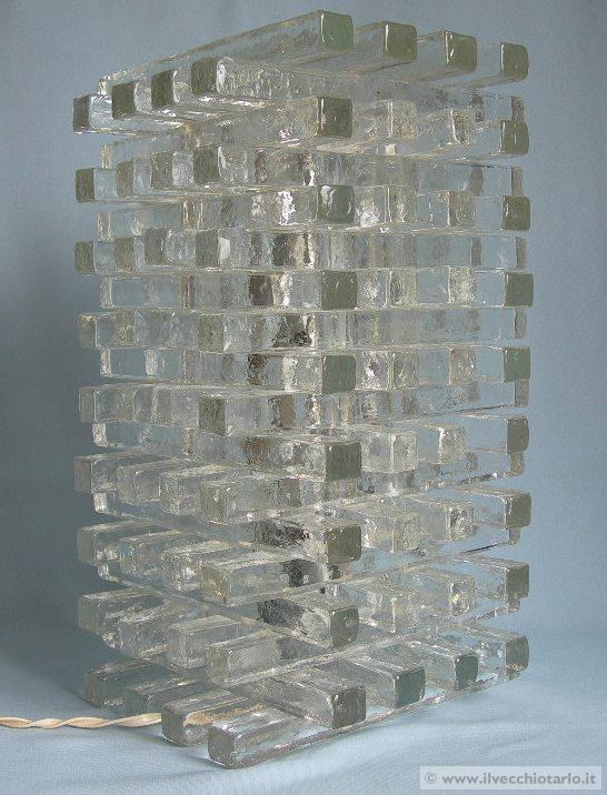 lampada torre vetro murano anni 70 -> Lampadari Design Modernariato