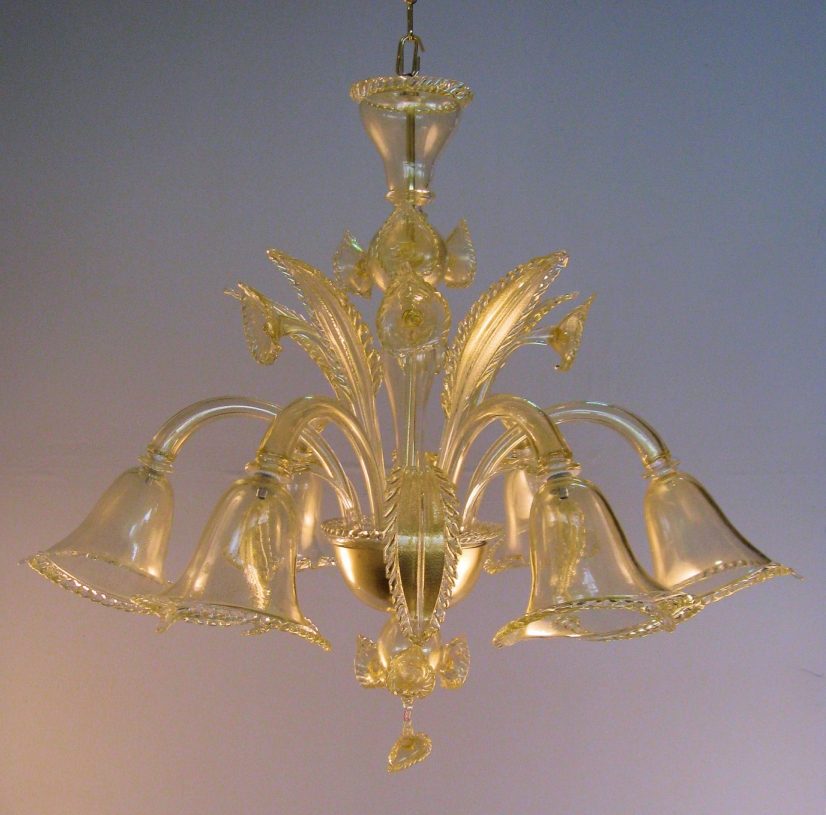 lampadario vetro satinato fatto a mano Murano