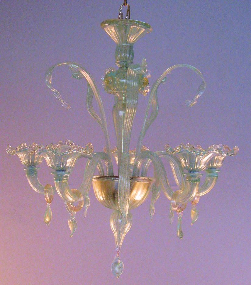 Lampadari soffiati:Lampadario in vetro soffiato originale ...