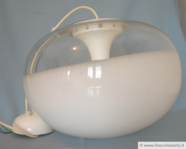lampadari modernariato : lampadario sospensione vetro murano de majo anni 70 vintage space age ...