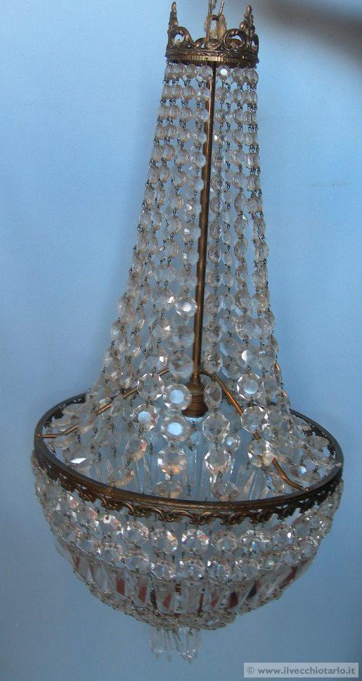 lampadario in crist -> Lampadari Design Modernariato