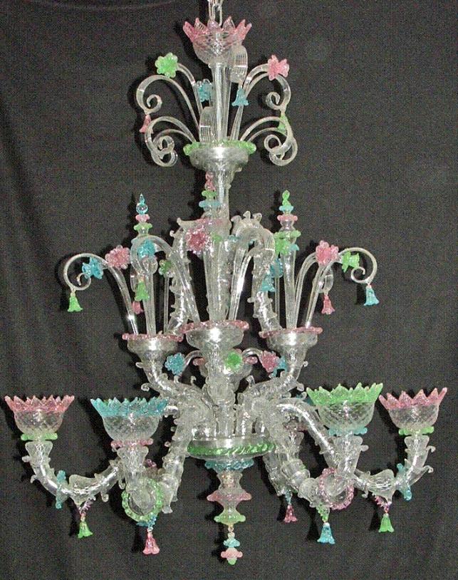 Lampadario vetro di Murano Ca Rezzonico Venezia