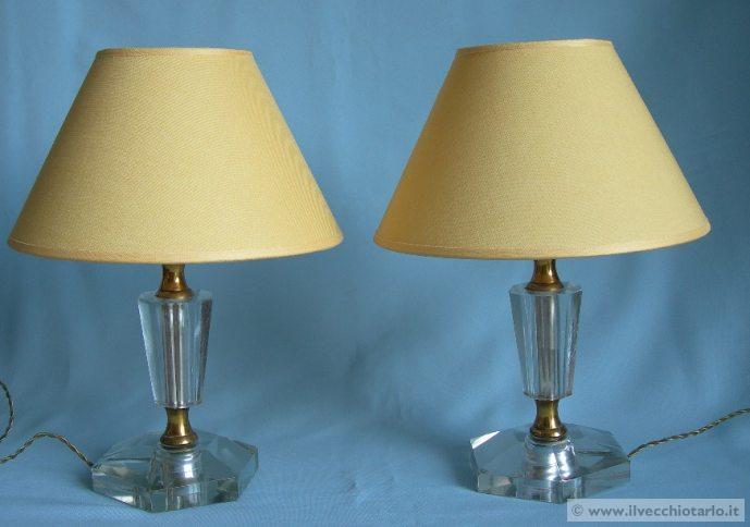Lampade abat jour vetro anni 40 50 - Lampade da tavolo anni 50 ...