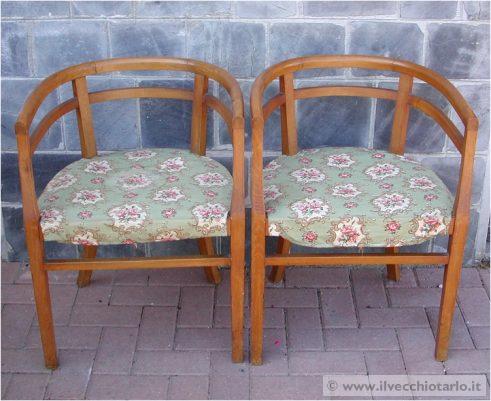mobili d\'epoca e antichi:poltroncine a pozzetto da restaurare