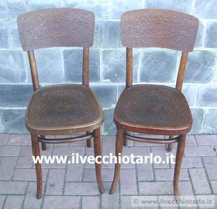 Coppia sedie thonet offerta vendita sedie tonetoriginali for Sedie originali