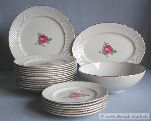 Ceramica art deco antico servizio piatti ceramica galvani - Servizio piatti design ...