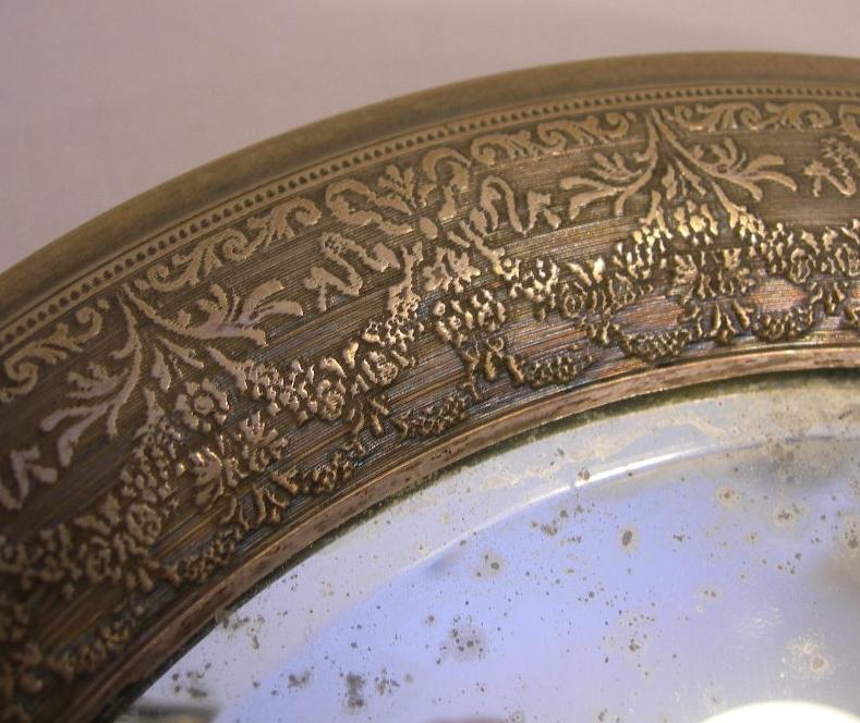 Antico specchio ovale da tavolo o da appendere in legno ed - Specchio antico ovale ...