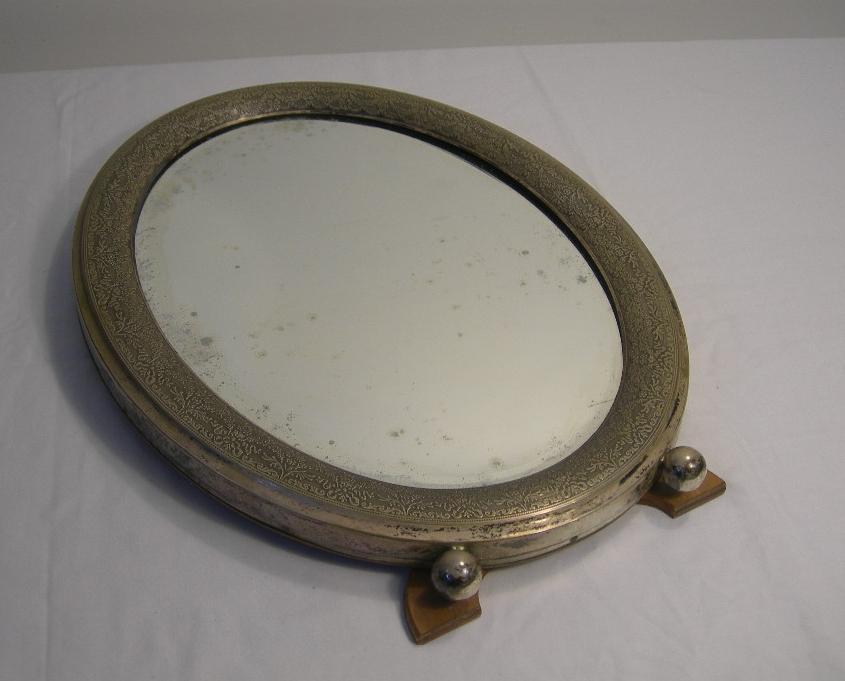 Antico specchio ovale da tavolo o da appendere in legno ed - Specchio ovale vintage ...