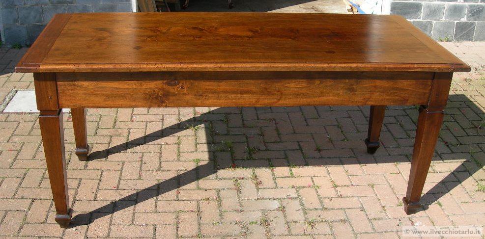 Grande tavolo antico idee creative di interni e mobili - Tavolo grande legno ...