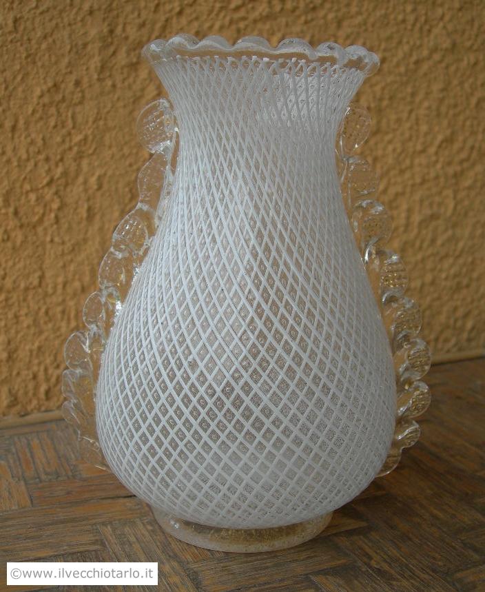 Antico vaso vetro di murano dino martens aureliano toso for Barovier e toso catalogo vasi