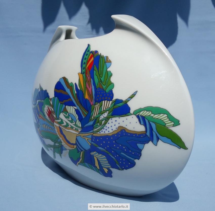 Vaso vintage ovale tasca in ceramica produzione rosenthal for Rosenthal home designs