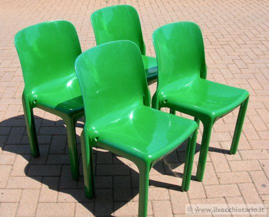 Sedie Bianche Usate : Modernariato sedie selene artemide vico magistretti